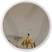 Profile Of Our New Friend Round Beach Towel