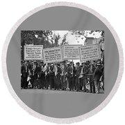 Prohibition Protestors Round Beach Towel