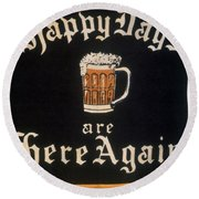Prohibition: Repeal, C1933 Round Beach Towel