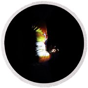 Projection - Body 4 Round Beach Towel