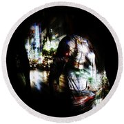Projection - Body 2 Round Beach Towel