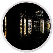 Projection - City 3 Round Beach Towel