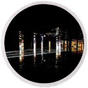 Projection - City 5 Round Beach Towel