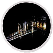 Projection - City 6 Round Beach Towel