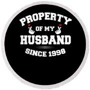 Propertyhusband 1998 Round Beach Towel
