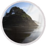 Proposal Rogue Wave Rock - Oregon Coast Round Beach Towel