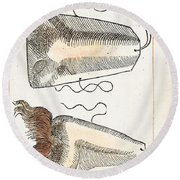Prosthetic Noses, Ambroise Pare, 1561 Round Beach Towel