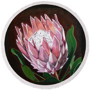 Protea Round Beach Towel