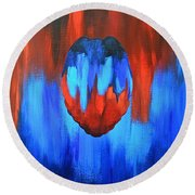 Protect And Serve Round Beach Towel by Herschel Fall