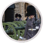 Protecting The Tower Of London Round Beach Towel