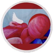 Protection Detail Round Beach Towel