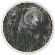 Protective Mother Round Beach Towel