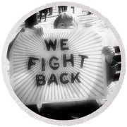 Protest Round Beach Towel