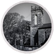 Protestant Church Macroom Ireland Round Beach Towel