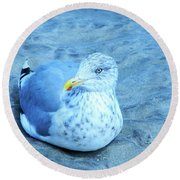 Proud Bird Round Beach Towel
