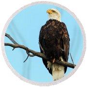 Proud Eagle Round Beach Towel