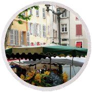 Provence Market Day Round Beach Towel