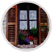 Provence Morning Round Beach Towel