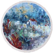 Provence South Of France Round Beach Towel