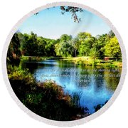 Proverb 4-18 Path Of The Just Round Beach Towel