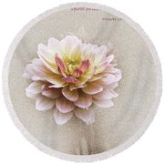 Proverbs 17 V 22 Floral  Round Beach Towel