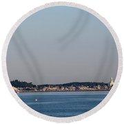 Provincetown Massachusetts Round Beach Towel