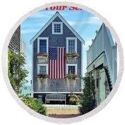 Provincetown Patriot By Sharon Eng Round Beach Towel