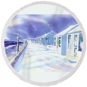 Provincetown Winter Round Beach Towel