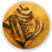 Prudence - Tile Round Beach Towel