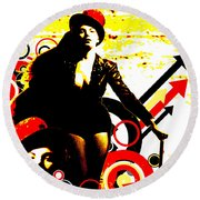 Prurient Performer Round Beach Towel