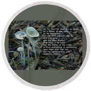 Psalm 103 Temporary And Eternal Round Beach Towel