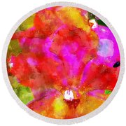 Psaumes 35-9 Round Beach Towel