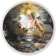 Psyche-2 Round Beach Towel
