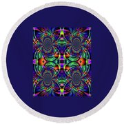 Psychedelic Abstract Kaleidoscope Round Beach Towel