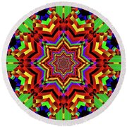Psychedelic Construct Round Beach Towel