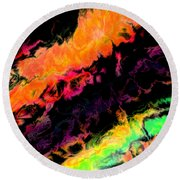 Psychedelic J Round Beach Towel
