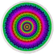 Psychedelic Journey Round Beach Towel