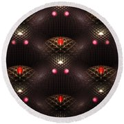 Psychedelic Pattern Round Beach Towel