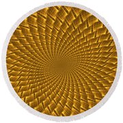 Psychedelic Spiral Round Beach Towel