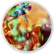 Psychedelic Xperiment Round Beach Towel