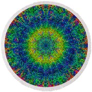 Psychedelicize Round Beach Towel