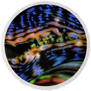 Psychedellic Clam Round Beach Towel