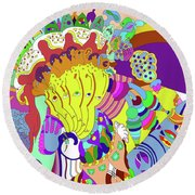 Psychedellic Pinch Round Beach Towel