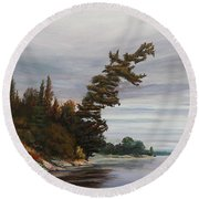 Ptarmigan Bay Round Beach Towel
