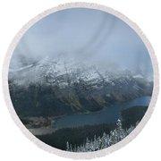 Ptarmigan Trail Overlooking Elizabeth Lake 3 - Glacier National Park Round Beach Towel