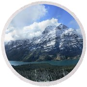 Ptarmigan Trail Overlooking Elizabeth Lake 5 - Glacier National Park Round Beach Towel