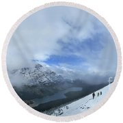 Ptarmigan Trail Overlooking Elizabeth Lake - Glacier National Park Round Beach Towel