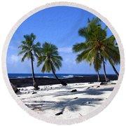 Pu Uhonua O Honaunau Round Beach Towel