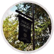 Public Garden 1837 Boston Round Beach Towel