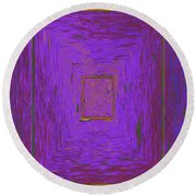 Puddle Blue Round Beach Towel